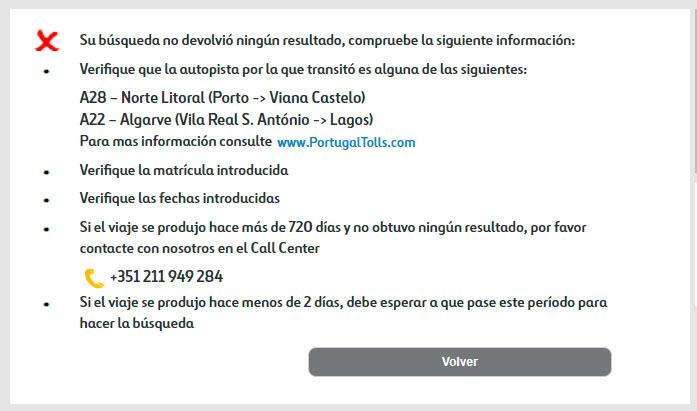 Captura pantalla: Consulta sin deuda.