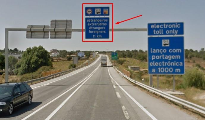 Peaje electronico autopista A25 Portugal